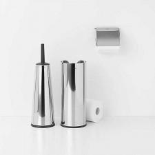 Набор аксессуаров для туалетной комнаты, 3 пр, (ершик с подставкой, держатель для туалетной бумаги,