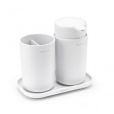 Набор аксессуаров для ванной комнаты, 3 пр(диспенсер для жидкого мыла, стакан для зубных щеток и под