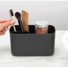 Органайзер для ванной комнаты. нескользящее дно,съемная вставка с отверстием для вентиляции и стекан