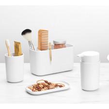 Органайзер для ванной комнаты. нескользящее дно, съемная вставка с отверстием для вентиляции и стека