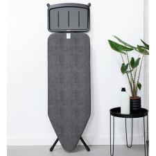 Доска гладильная 124x45 см с подставкой для утюга С, 7 положений (75-98 см),Чехол-100% хлопок, подкл