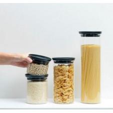 Банка для хранения сыпучих продуктов - модульная стеклянная 0,3л