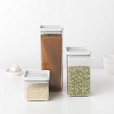 Банка для хранения сыпучих продуктов-пластиковая с крышкой 0,7 л