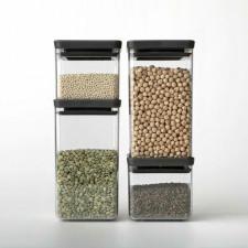 Банка для хранения сыпучих продуктов- стеклянная с крышкой 1,6 л