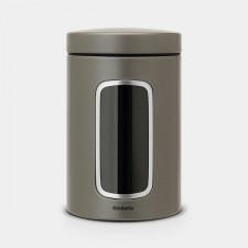 Банка для хранения сыпучих продуктов-емкость из нержавеющей стали с крышкой 1,4 л
