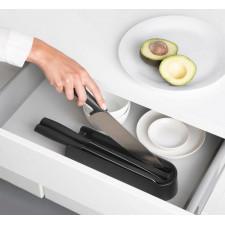 Блок с 3-мя ножами (разделочный, для хлеба, нож шеф-повара)