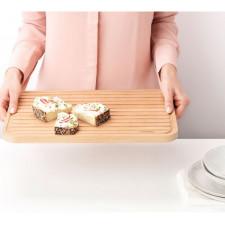 Доска разделочная деревянная для хлеба 40х25 см. Двустороннее изделие – для нарезки и подачи.