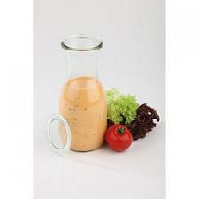 Бутылка стеклянная с крышкой 500мл, h-19см, d-6см APS