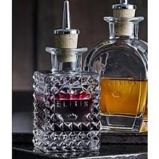 Бутылка для масла/уксуса  Elixir N.1с дозатором (пробка ,нерж.сталь) ,v-10 cl , h-13,5 d-5,7 Luigi B