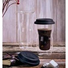 Термо стакан(двойные стенки) с крышкой LINEA Termic Glass v-34cl  Luigi Bormioli