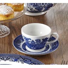 "Чашка ""BLUE WILLOW"" 200мл+блюдце Churchill"