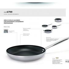 Сковорода высокая 24 см,серия 6700 аллюминий/ручка нерж.сталь/4mm,индукция с антипригарным покрытием