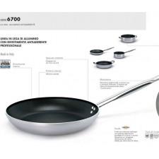 Сковорода высокая 28 см,серия 6700 аллюминий/ручка нерж.сталь/4mm,индукция с антипригарным покрытием