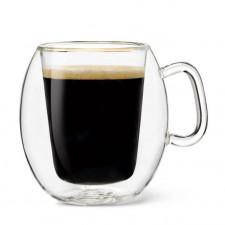 чашка с двойным дном 75мл, 2шт LB Brazil,ИТАЛИЯ