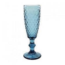 """Бокал-шампанское """"Изумруд 2"""" синий, 150 мл Китай"""