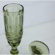 """Бокал-шампанское """"Винтаж"""" зеленый, 180 мл  Китай"""