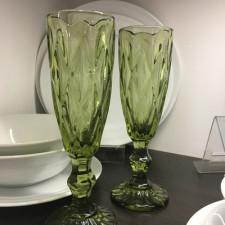 """Бокал-шампанское """"Изумруд"""" зеленый, 150 мл Китай"""