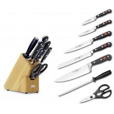 АКЦИЯ Набор кованых ножей PREMIUM в блоке, 7 шт(5ножей:12см+23см,20см+ножницы+мусат) CLASSIC Wuesthof