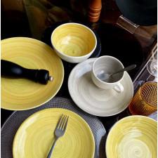 Тарілка глибока 21 см, TURBOLINO Yellow, COSY TRENDY